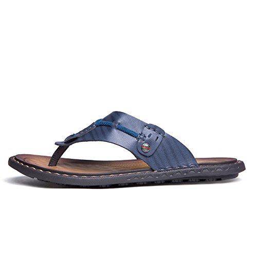 2018 Casual Infradito grandi Dimensione 39 piatto uomo spiaggia da Scarpe Color resistente Cachi sandali di da di all'usura EU Blu da uomo traspirante dimensioni wrAxartYq