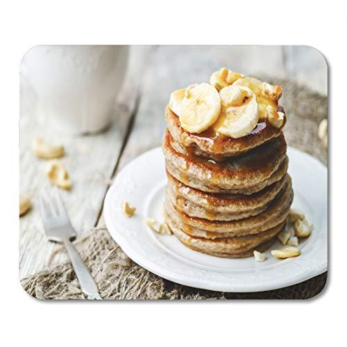 (Semtomn Mouse Pad Banana Cashew Pancakes and Salted Caramel Sauce The Toning Mousepad 9.8