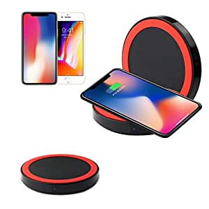 Iuhan Qi Wireless Power Charger Charging Pad For iPhone 8/iPhone 8 Plus (Red)