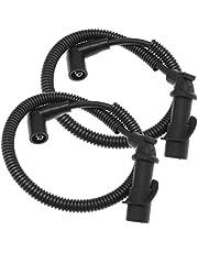Ignition Coil Spark Plug Cap and Wire 4012439 Spark Plug Wire Set Compatible for Polaris Ranger RZR 700 800(2 PCS)