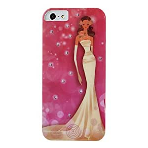 IMD Technique Bride with Wedding Veil Pattern Plastic Hard Case for iPhone 5/5S