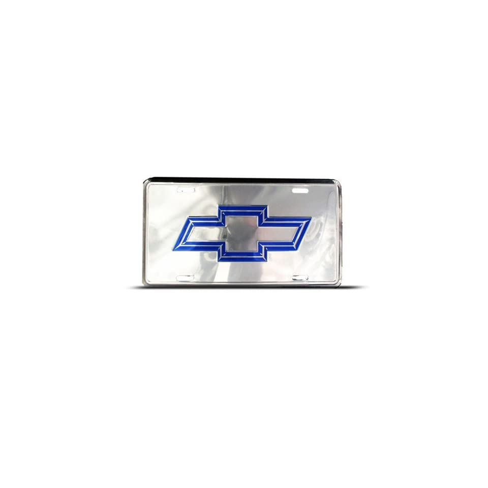 Chevy Bow Tie Metal Novelty Car Auto License Plate Wall Sign Tag