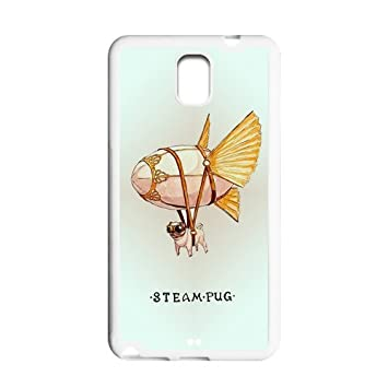 Cute design steam pug fly wings Samsung galaxy Note 3