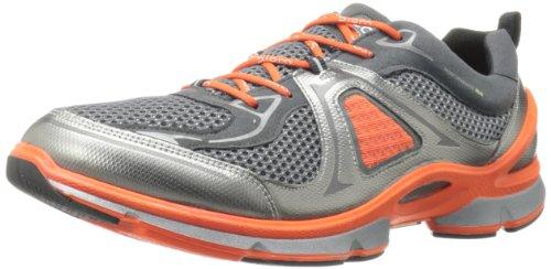 ECCO Men's Biom Evo Trainer Lite Running Shoe,Buffed Silver/Dark Shadow/Fire,42 EU/8-8.5 M US