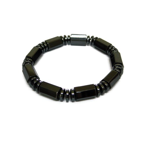 Accents Kingdom Magnetic Hematite Bracelet with Black Hex...
