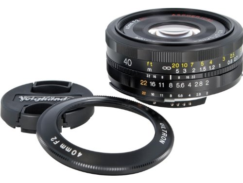Voigtlander Ultron 40mm f/2 SL-II Aspherical Compact Pancake Manual Focus Normal Lens for Canon EOS Film & Digital Cameras