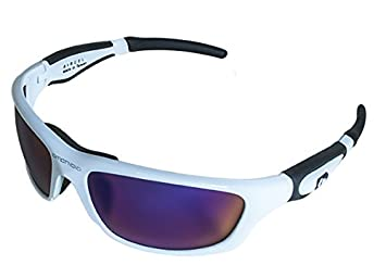 30e49ce9498 Image Unavailable. Image not available for. Colour  Amphibia Exodus  K481C-E1 Gloss White Pol Amber Wave AirCel Floating Sunglasses