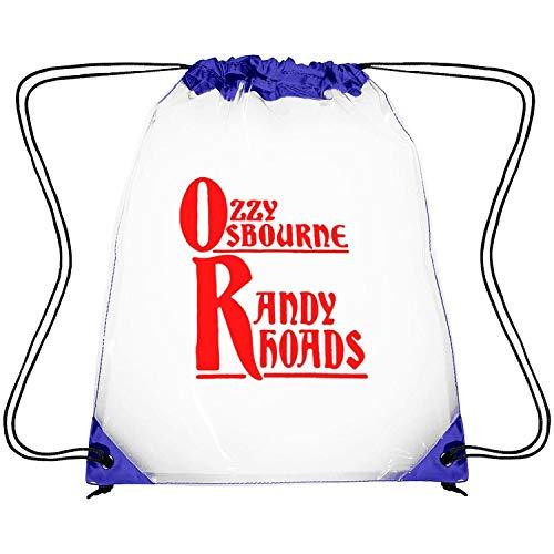 Rhoads Randy Strings - CAPXIEeY Clear Drawstring Backpack Ozzy Osbourne Randy Rhoads Red Dancing Bag Gym Sports Travel Sack Pack for Men Women