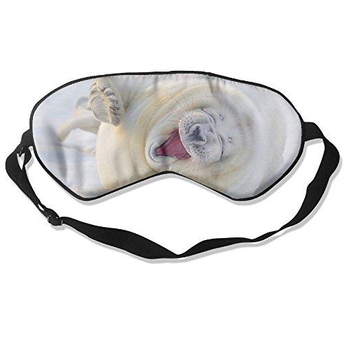Silk Sleeping Mask Eye White Animals Lightweight Soft Adjustable Strap Blindfold For Night's Sleep Nap Travel Eyeshade Men And Women for $<!--$15.66-->