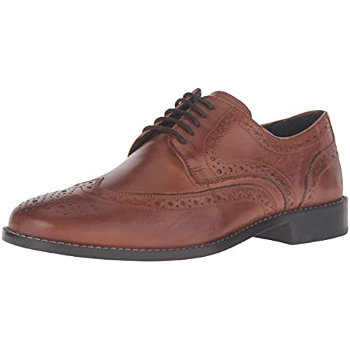 Nunn Bush Men's Nelson Wing Tip Oxford,Cognac 9 M US