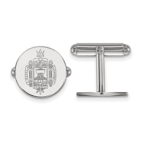 Navy Crest Cuff Links (Sterling Silver)