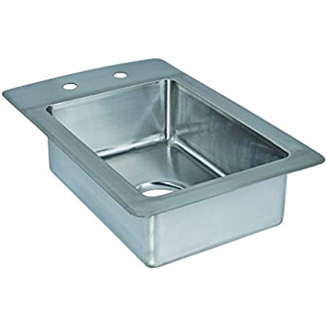 Tarrison DI1410 10 Stainless Steel Heavy Duty Drop In Coved Corner Sink 13 Length X 10 Height X 20 Depth