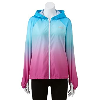 9c4501be9967 Image Unavailable. Image not available for. Color: FILA SPORT Ombre Hooded  Jacket - Women's