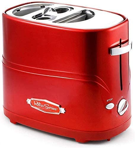 Afneembare Pop-up Hot Dog Broodrooster broodbakmachine met Tong Instelbare kooktijd eenvoudig te reinigen ontbijt brood Hot Dog Broodrooster, erg handig AQUILA1125