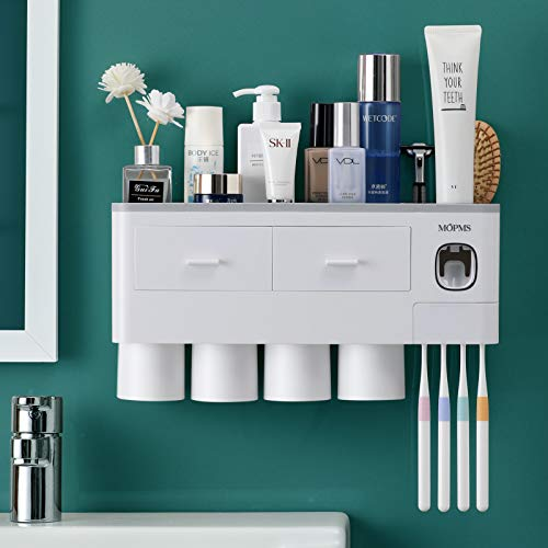 MOPMS Multifunctional Self Adhesive Toothbrush Holder