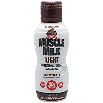 CytoSport Muscle Milk Light Ready-to-Drink Protein Shake Chocolate 500ml (Pack of