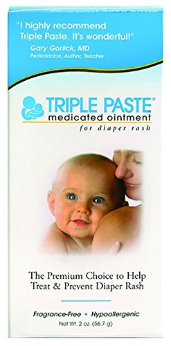 Triple Paste Medicated Ointment for Diaper Rash, 2 Ounce (Vitamin Paste Treat)