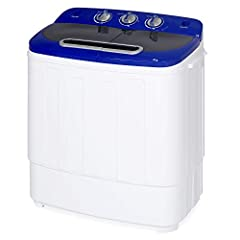 Best Choice Products presents the brand new Portable Washer and Spin Cycle. This compact washing machine and spin cycle unit is constructed of a durable plastic body. The lightweight and space-saving design makes it ideal for camping trips, d...