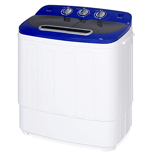 Best Choice Products Portable Compact Lightweight Mini Twin Tub Laundry Washing Machine and Spin Cycle for Camping, Dorms, Apartments w/Hose, 13lbs Load Capacity - ()