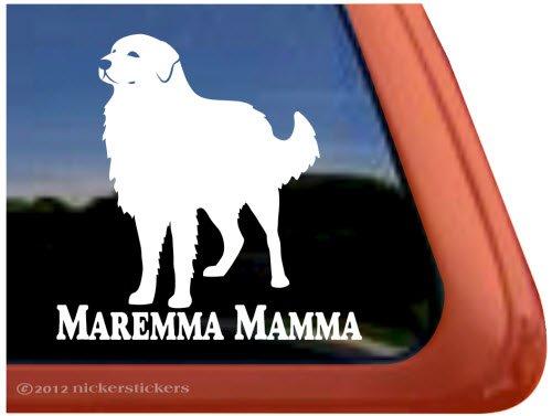 Maremma Mamma ~ Maremma Sheepdog Vinyl Window Auto Decal ()