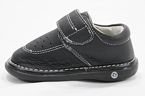 Anderson Baby Care LLC Squeaky Shoes for Toddler Boys (4T, Black Loafer) by Anderson Baby Care LLC (Image #6)'