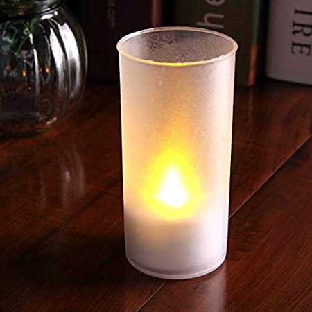 GOYAL� Flameless Yellow LED Tealight with Cup and 1 Set of Extra Batteries (Pack of 1) LD1 -Cup-1 Birthday/Festival/Anniversary/All Purpose