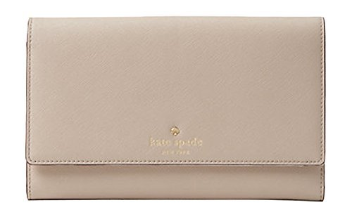 Kate Spade New York Mikas Pond Phoenix Trifold Leather Wallet (Almondine) by Kate Spade New York