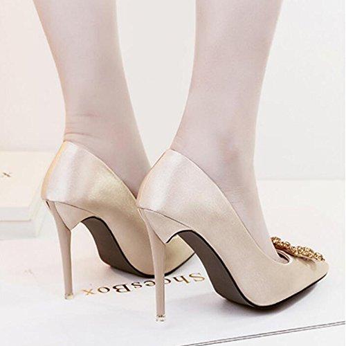 Chaussures Plain Mariage De Boucle Club High Night Stilettos Astuces Ladies Court Or Strass Ol Sexy Banquet Heels Mode Pompes w8aRqv