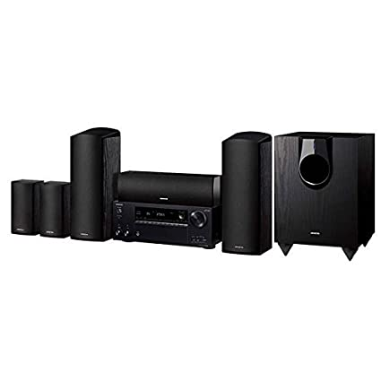 amazon com: onkyo ht-s7800 5 1 2 ch  dolby atmos home theater package with  amazonbasics 16-gauge speaker wire - 100 feet: home audio & theater
