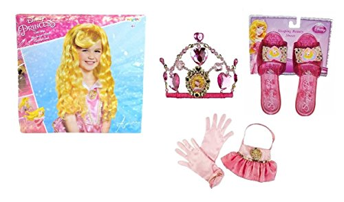 Disney Fairy Handbag (Disney Princess Aurora Costume - Sleeping Beauty Wig, Gloves, Purse, Shoes, Tiara)
