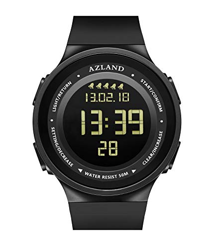 AZLAND Multiple 5 Alarms, Water Resistant Snorking Watch, Swimming Mens Watch Digital Sports Wrist Watch Waterproof Outdoors Multi Functions Teenagers -