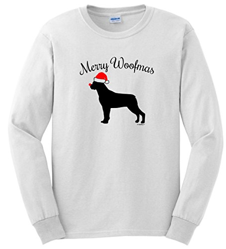 Woofmas Rottweiler Christmas Sleeve T Shirt