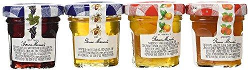 (Bonne Maman Assorted - 20/1 oz Mini Jars -Strawberry, Raspberry, Honey, Grape - 5 each flavor)