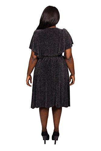 Scarlett & Jo - Robe - Kimono - Femme noir noir/argenté 40