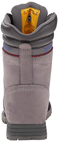 Caterpillar Women's Echo Waterproof Steel Toe Work Boot, Frost Grey, 9 M US