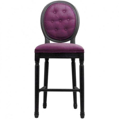 vente chaude en ligne 85734 decc2 Tabouret chaise de bar velours capitonné aubergine Médaillon ...