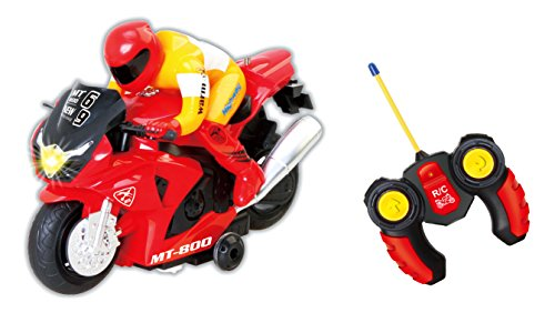 PowerTRC RC Motorcycle Car Toy (Red)