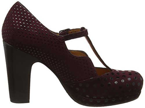 Chie Mihara Ruana T-Bar Pumps, Zapatos con Tacón para Mujer Morado (Dot Grape/Xuva Grape)