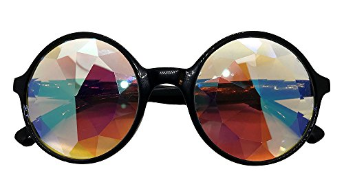 Concert Candy Kaleidoscope Glasses - Rainbow Rave Wormhole Prism Diffraction EDM
