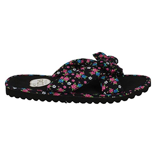 Black Mules Ladies Fuchsia Spot Floral Black On fIqWptawnF