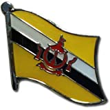 """Brunei Flag Lapel Pin / International Travel Pins Collections by Backwoods Barnaby (0.75"""" x 0.75"""")"""