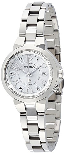 SEIKO WATCH watch LUKIA Rukia Lucky passport Solar radio Modify sapphire glass super clear coating for everyday life waterproof SSQV001 Ladies