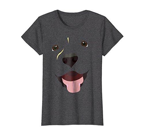 Cute Group Costumes Ideas (Womens Labrador Face Shirt | Funny Cute Lab Dog Costume T-Shirt Medium Dark Heather)