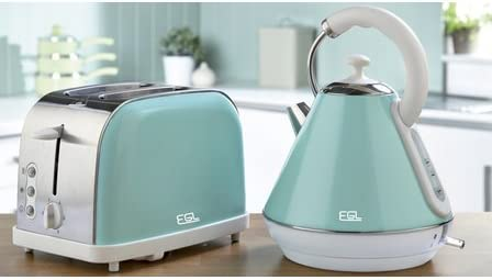 breville mint green kettle and toaster