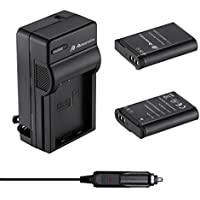 Powerextra 2 Pack Replacement Battery and Quick Charger for Nikon EN-EL23 and Nikon Coolpix P600, P610, B700, P900, S810c ( Includes 2 Pack 2600mAh High Capacity Battery and 1 Rapid Travel Charger )