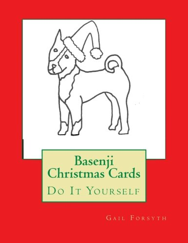 Basenji Christmas Cards: Do It Yourself PDF