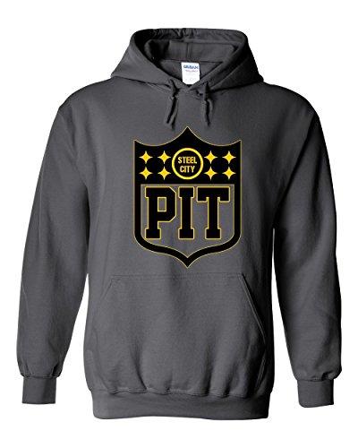 - America's Finest Apparel Pittsburgh Shield Hoodie (XL)