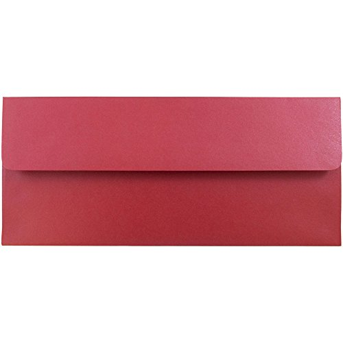 ic Business Envelopes - 4 1/8 x 9 1/2 - Jupiter Red Stardream - 25/Pack ()