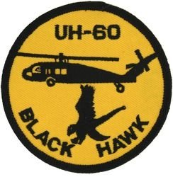 U.S. Army UH-60 Black Hawk Helicopter Patch