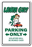 Lawn Guy Sign   Indoor/Outdoor   Funny Home Décor for Garages, Living Rooms, Bedroom, Offices   SignMission Parking Mower Parts Grass Seed Sod Gift Landscaper Landscaping Sign Wall Plaque Decoration